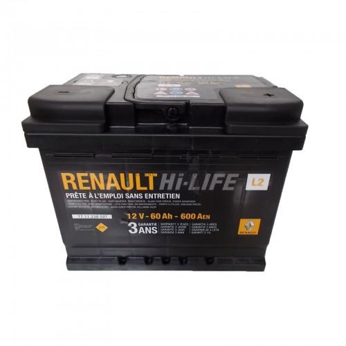 Renault gyári alkatrészek, Renault 7711238597 akkumulátor 60Ah / 600 A