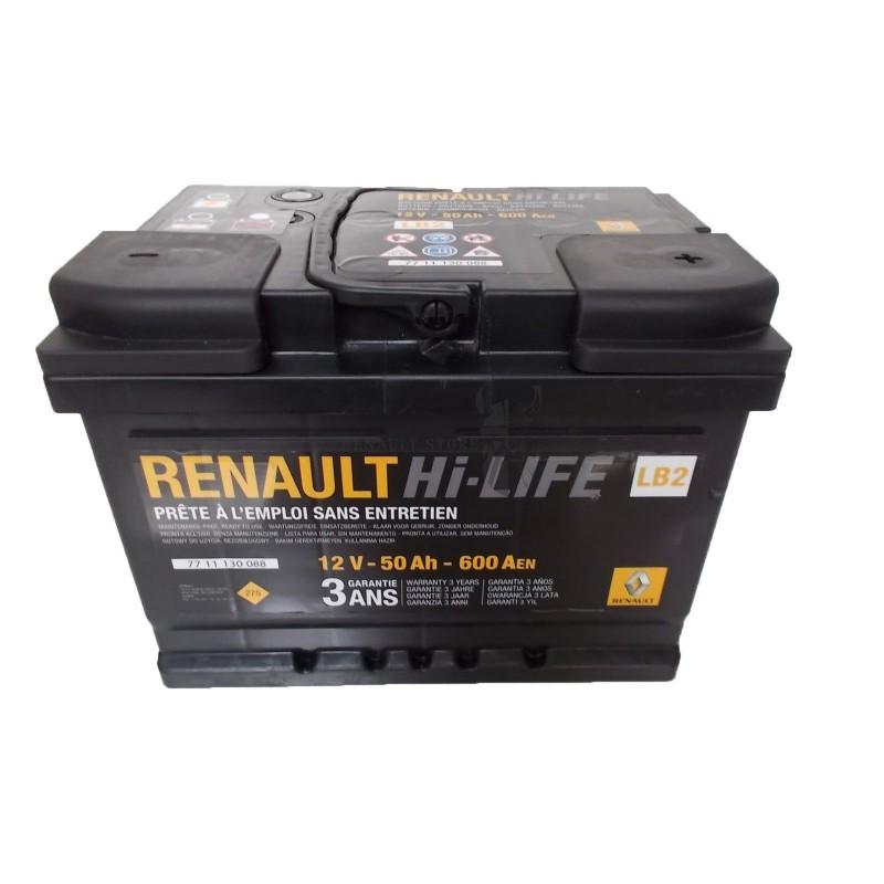 Renault gyári alkatrészek, Renault 7711130088 akkumulátor 50Ah / 600 A