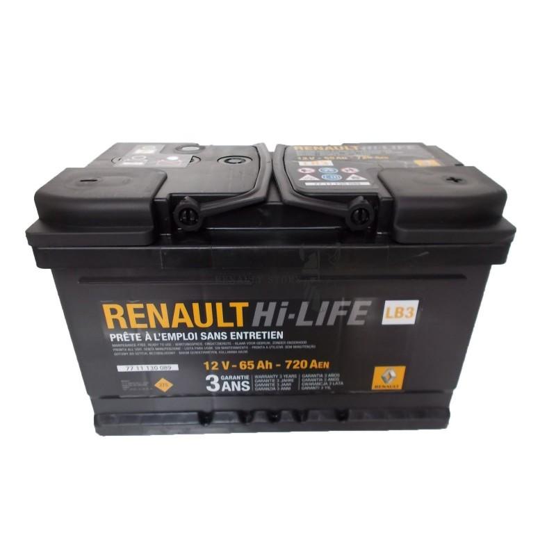 Renault gyári alkatrészek, Renault 7711130089 akkumulátor 65Ah / 720 A