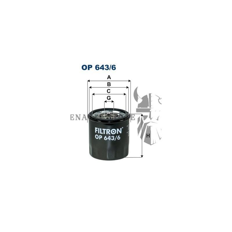 Renault alkatrészek, Filtron OP643/6 olajszűrő