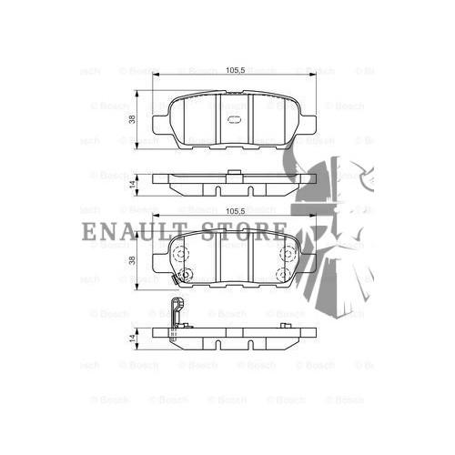 Renault alkatrészek, Bosch 0986495089 hátsó fékbetét